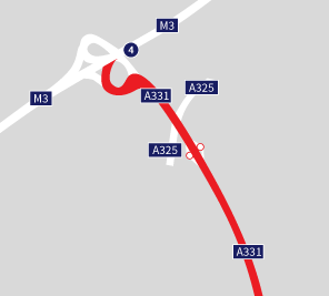 Route from M3