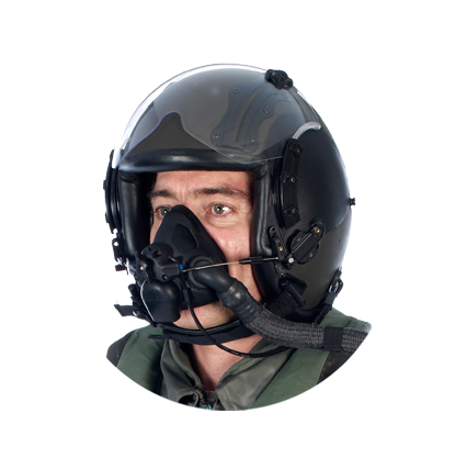 ADOM 9G – Helicopter pilot oxygen mask